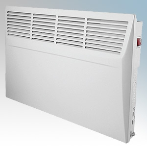 Manrose HP24TIMPH150T White LOT20 Compliant Panel Heater With 7 Day Timer & Thermostat IP24 1.5kW