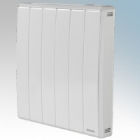 Dimplex QRAD050E Quantum White Electronic Panel Heater With IPX4 Radiator Intelligent Controls (Requires RF Module - Part No. RFM) 0.50kW