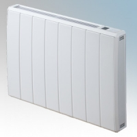 Dimplex QRAD075E Quantum White Electronic Panel Heater With IPX4 Radiator Intelligent Controls (Requires RF Module - Part No. RFM) 0.75kW