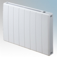 Dimplex QRAD100E Quantum White Electronic Panel Heater With IPX4 Radiator Intelligent Controls (Requires RF Module - Part No. RFM) 1.0kW