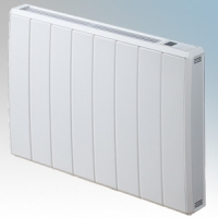 Dimplex QRAD200E Quantum White Electronic Panel Heater With IPX4 Radiator Intelligent Controls (Requires RF Module - Part No. RFM) 2.0kW