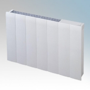 Dimplex MFP100W Monterey White Radiator Styled Panel Heater With Thermostat IPX4 1.0kW H:536mm x W:671mm x D:104mm
