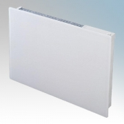Dimplex GFP100W Girona White Glass Front Panel Heater With Thermostat IPX4 1.0kW H:565mm x W:700mm x D:107mm