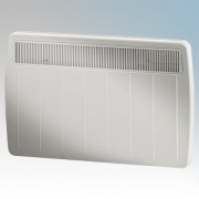 Dimplex PLX1250TI PLX Series Willow White Ultra Slim Panel Convector Heater With 24 Hour Timer & Thermostat IPX4 1.25kW