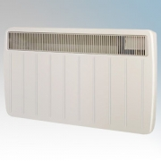 Dimplex PLX3000TI PLX Series Willow White Ultra Slim Panel Convector Heater With 24 Hour Timer & Thermostat IPX4 3.0kW