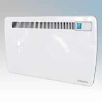 Dimplex LST075 LST Series White Low Surface Temperature Panel Heater With Electronic Thermostat & Touch Control 24Hr / 7 Day Timer 0.75kW H:430mm x W:688mm x D:105mm