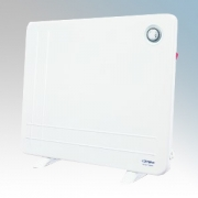 Dimplex ARLWP800TI DLXWP Range White Low Wattage Panel Heater With 24 Hour Programmable Timer & Wall Mounting Kit 800W