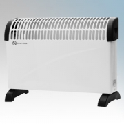 Vent-Axia VACH2-TC White Portable Convector Heater With Thermostat & 3 Heat Settings 2.0kW W:530mm x H:370mm x D:110mm