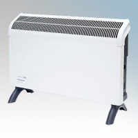 Dimplex DXC20 Contrast White/Graphite Grey Portable Convector Heater With Thermostat 2.0kW W:575mm x H:418mm x D:196mm