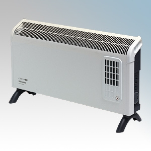 Dimplex DXC30FTI Contrast White/Graphite Grey Portable Convector Heater With Thermostat, 24 Hour Timer & Turbo Boost 3.0kW