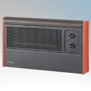 Dimplex WFC3NB WFC Series Black / Cherry Wall Mounting Fan Convector Heater With Thermostat, Function Selector & Neon 3.0kW
