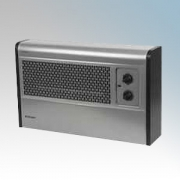 Dimplex WFC3NS WFC Series Satin Silver / Black Wall Mounting Fan Convector Heater With Thermostat, Function Switch & Neon 3.0kW