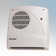Dimplex FX20VE FX Series White Wall Mounting Downflow Fan Heater With Thermostat, Adjustable Timer, Neon & Pullcord 2.0kW