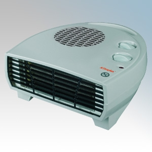 Dimplex DXFF20TS DXFF Range Grey Portable Flat Letterbox Style Fan Heater With Thermostat & Choice Of Heat Setting 2.0kW
