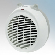 Dimplex DXUF20TN DXUF Range White/Light Grey Curved Portable Upright Fan Heater With Thermostat & Choice Of Heat Setting 2.0kW