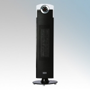 Dimplex DXSTG25 Studio G Black Oscillating Upright Fan Heater With Thermostat, Climate Control & Choice Of Heat Settings 2.0kW