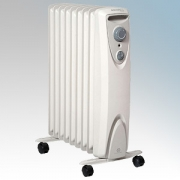 Dimplex OFRC20 OFRC Eco Range Enviro-Sensitive Oil Free 9 Fin Electric Radiator With Thermostat & Choice Of Heat Settings 2.0kW