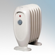 Dimplex OFRB7N Eco Chico Cream Oil Free 6 Fin Portable Electric Radiator With Variable Thermostat 1.0kW