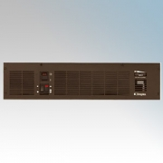 Dimplex BFH24BWSR BFH Range Remote Control Base Unit Heater With Thermostat, White/Brown/Stainless Steel Fascias 2.4kW