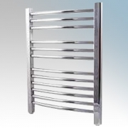 Dimplex TDTR175C Daytona Chrome Curved 12 Rail Towel Rail With 3 Wall Brackets IPX4 120W H:610mm x W:453mm x D:80-100mm
