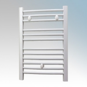 Dimplex TDTR175W Daytona White Curved 12 Rail Towel Rail With 3 Wall Brackets IPX4 175W H:610mm x W:453mm x D:80-100mm