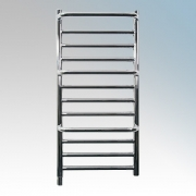 Dimplex CPTS Chrome Compact Stepped Low Wattage Towel Rail With Protruding Rails IPX5 120W H:800mm x W:400mm x D:120mm