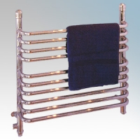 Dimplex BR150C BR Range Chrome 10 Rail Dry/Wet Ladder Towel Rail IPX4 150W Electric / 320W Water H:665mm x W:430mm x D:155mm