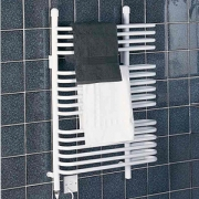 Dimplex BR400 BR Range White 16 Rail Dry/Wet Ladder Towel Rail IPX4 400W Electric / 840W Water H:1003mm x W:630mm x D:155mm