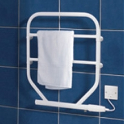 Dimplex TTRS120 TTR Range White Wall Mounting Water Glycol Filled Towel Rail IPX4 120W H:616mm x W:533mm x D:93mm