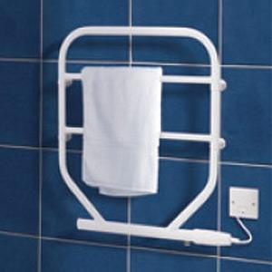 Dimplex TTRS120 TTR Range White Wall Mounting Water Glycol Filled Towel Rail IPX4 120W H:616mm x W:533mm x D:93mm