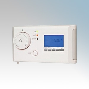 Dimplex RF07T White Wall Mounted 7 Day Radio Frequency LCD Programmer With 4 Programmable Time Periods & 30 Minute Boost IPX4