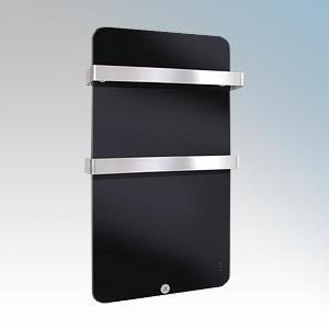Haverland XTAL4B Designer XTAL Black Glass Designer Plasma Style Towel Rail With Electronic Digital Thermostat & Programmer 400W