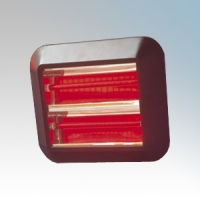 Dimplex QXD3000 QXD Range Black Wall Mounting Quartz Heater With Ruby Lamp 3.0kW H:380mm x L:440mm x D:70mm