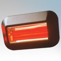 Dimplex QXD1500PIR QXD Range Black Wall Mounting Quartz Heater With DX4131 200° | 12m PIR Sensor & Ruby Lamp 1.5kW H:256mm x L:440mm x D:70mm