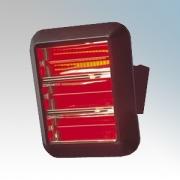 Dimplex QXD4500 QXD Range Black Wall Mounting Quartz Heater With Ruby Lamp 4.5kW H:506mm x L:440mm x D:70mm