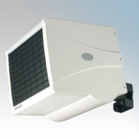 Dimplex CFH120 CFH Range White Wall Mounting Single/Three Phase Remote Controlled Industrial Fan Heater With Electronic Thermostat, 7 Day Timer & Multi-Directional Wall Bracket - Requires Controller12kW 220-240V / 380-415V H:360mm x W:386mm x D:565mm