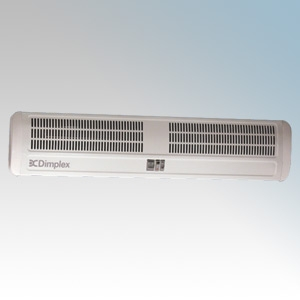 Dimplex AC6N AC Range White Warm Air Curtain With Adjustable Air Flow Direction & Integral Controls For Double Doorways 6.0kW