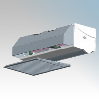 Dimplex CAB20ER CAB Range 3 Phase Electronically Controlled Recessed Electrically Heated Commercial Air Curtain Heat Output: 9.0kW/18.0kW Air Volume: 2400m³/hr 380V-415V L:2363mm x W:667mm x D:276mm
