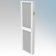 ElectroRad AF10 Aeroflow White Low Energy Fireclay Core Vertical Electric Radiator With Digital Room Thermostat & Programmer 1600W W:380mm x H:1250mm x D:90mm