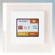 Heatmat TOU-WHT-WHTE NGTouch White Electronic Colour Touchscreen Thermostat & Timer On White Faceplate For Underfloor Heating Systems 16A