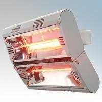 Vent-Axia 447603 VARI4000 Grey Quartz Heater With 2 x Gold Lamp & Wall Mounting Bracket 4.0kW L:496mm x W:376mm x D:313mm