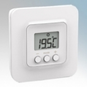 ElectroRad TYBOX5101 X3D White Wireless Room Thermostat For Use With Aeroflow F Type Wireless Electric Radiators & TYDOM Wireless Gateway
