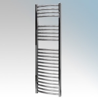 Vent-Axia 447860 VATRC400C Chrome Curved Ladder Style Towel Rail With Wall Brackets 400W W:500mm x H:1500mm x D:98mm