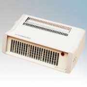 Consort PFH15T Fanfair White Portable Flat Letterbox Style Fan Heater With Variable Thermostat & Choice Of Heat Setting 1.5kW H:110mm x W:300mm x D:190mm