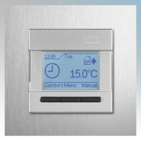 Heatmat NGT-SIL-ALUM Designer Programmable Thermostat With Brushed Aluminium Frame & Silver Fascia 3600W 16A