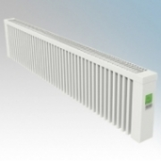 ElectroRad AF14D Aeroflow White Low Energy Fireclay Core Conservatory Electric Radiator With Digital Room Thermostat & Programmer 2000W W:1580mm x H:300mm x D:90mm