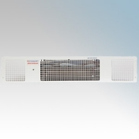 Consort PHRX2W Heatstream White Wireless Controlled Electric Base Unit Heater  - Requires CRX2 Controller 2.0kW H:100mm x W:500mm x D:180mm