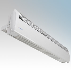 Consort HE7426RX Screenzone White Wireless Controlled Air Curtain With Adjustable Air Flow Direction & Bracket For Double Doorways - Requires CRX2 Controller 6.0kW H:211mm x W:1040mm x D:121mm