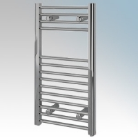 Vent-Axia 447855 VATRF150C Chrome Flat Ladder Style Towel Rail With Wall Brackets 150W W:400mm x H:700mm x D:84mm