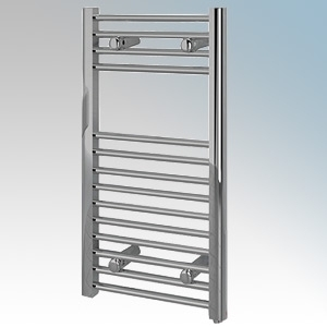 Vent-Axia 447855 VATRF150C Chrome Flat Ladder Style Towel Rail With Wall Brackets 150W W:400mm x H:700mm x D:84mm